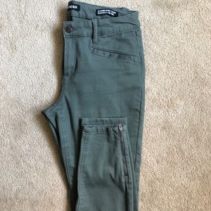Olive jeans.
